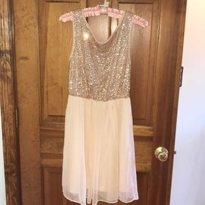 Sparkle top flowy dress